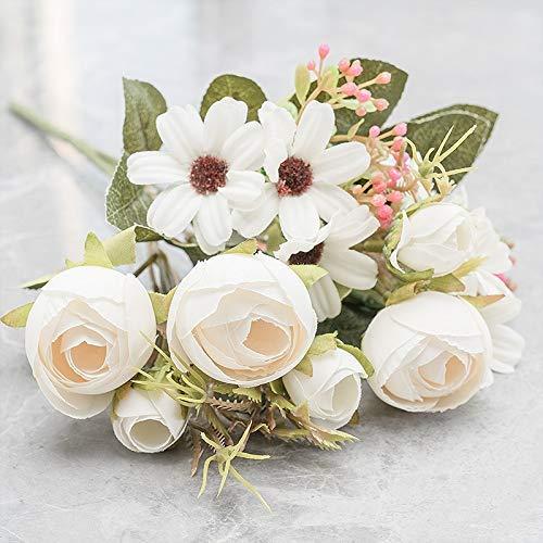 ZHTY Seide Rose Rosa Künstliche Blumen...