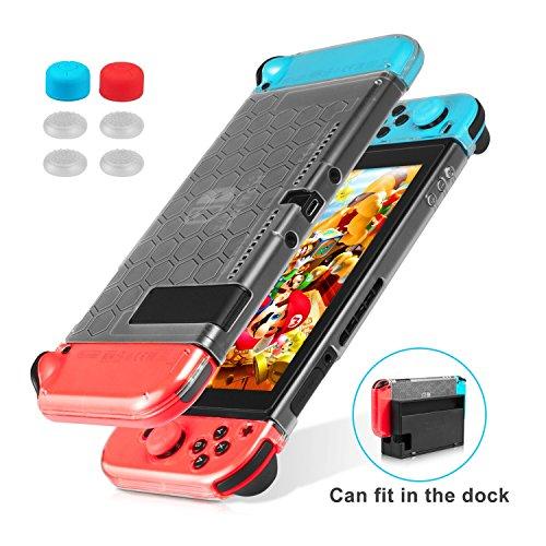 Keten Funda para Nintendo Switch, Funda Transparente Versión Mejorada, Protector Amortiguador...