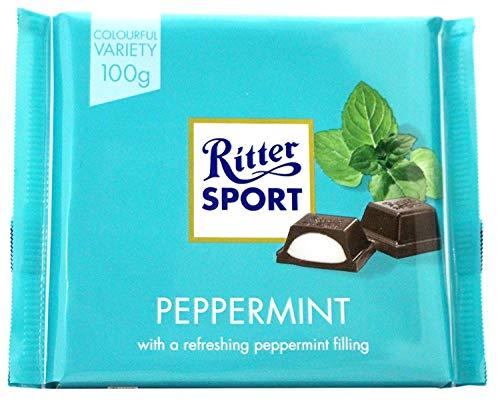 Ritter Sport Barra De Chocolate - Menta (100g) (Paquete de 6)