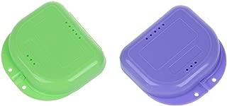 TOOGOO(R) 2 Caja para Ortodoncia dental o Dentadura Multicolor