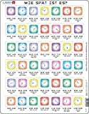 Larsen OB7 Wie spät ist es?, Deutsch Ausgabe, Rahmenpuzzle mit 42 Teilen