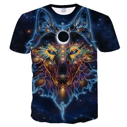 T Shirt Wolf Print 3D Series T-Shirt Men's T-Shirt Summer Short Sleeve XS Txuo-263