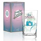 RITZENHOFF Everyday Darling Softdrinkglas von Claudia Schultes , aus Kristallglas, 300 ml, mit trendigen Dekoren