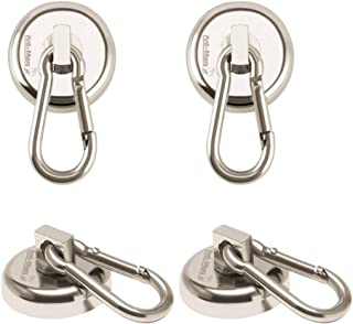 Ant Mag – Carabiner Magnetic Hooks 80LBS Heavy Duty Neodymium Magnet Carabiner with..