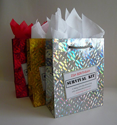 21st Birthday Survival Kit. for Male. Fun Gift Idea. Novelty Present. for Him.