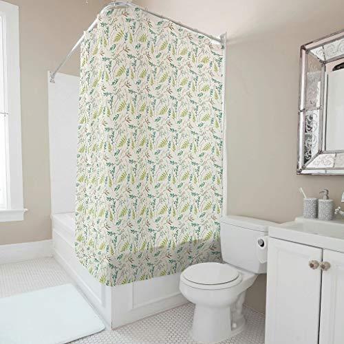Zhiyue Modieus waterdicht polyester douchegordijn badgordijn ondoorzichtig afwasbaar hangend gordijn voor thuis decoratief met haak plant bloem