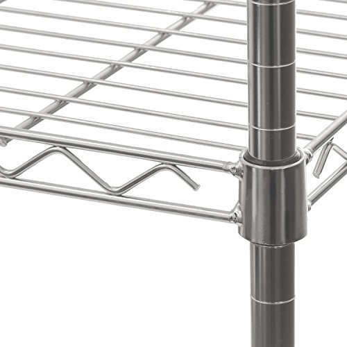 """Seville Classics 5-Tier Steel Wire Shelving with Wheels, 30"""" W x 14"""" D x 60"""" H, Plated Steel"""