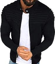 Overdose Abrigo De Invierno Ocio De Los Hombres Pliegues Slim Stripe Fit Raglan Zipper Mejor Venta Suelta Top Coat Nuevo DiseñO OtoñO Sudadera