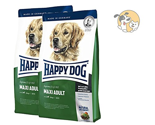 Happy Dog Fit & Well Maxi Adult 2x15kg + MIOMERA gratis Snack | Hundefutter