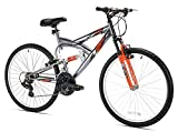 Northwoods Aluminum Full Suspension Mountain Bike, 26-Inch,...