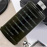 Welltobuy Botella de agua deportiva de plástico sin BPA, botella de agua grande con marcador de tiempo para deporte para gimnasio, deportes al aire libre, hogar y oficina