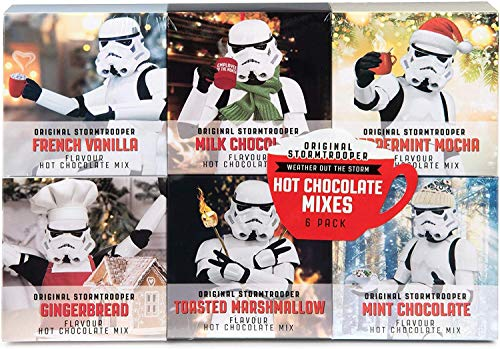 Modern Gourmet Foods, Original Stormtrooper Hot Chocolate Gift Set, Flavours Include French Vanilla, Milk Chocolate, Peppermint and More, Pack of 6