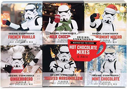 Modern Gourmet Foods - Original Stormtrooper Heiße Schokolade Geschenkset - Probierset Mit 6 Leckeren Kakao-Mischungen