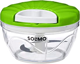 Amazon Brand - Solimo 500 ml Large Vegetable Chopper with 3 Blades, Green