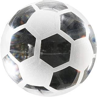 Cocity Glass Soccer Ball Glass Figurine Gift for Christmas, Birthday Home Decor Art