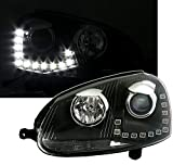 Eagle Eyes Faros con LED Luz Diurna en Transparente Cristal Negro