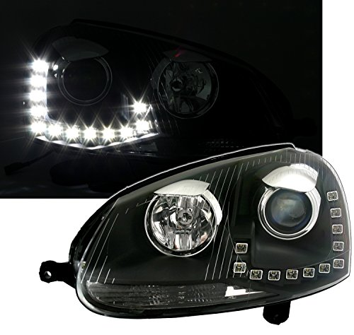 Eagle Eyes Scheinwerfer mit LED Tagfahrlicht in Klarglas Schwarz