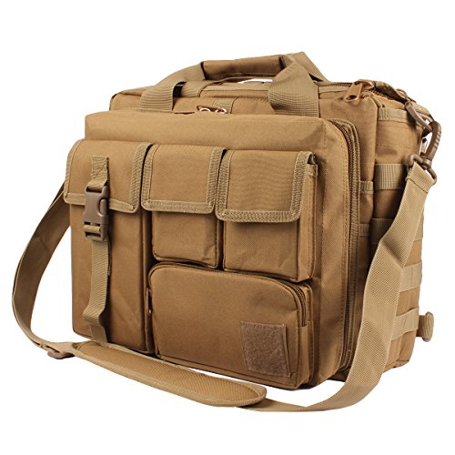 Tactical Briefcase, 15.6' Men Messenger Bag Military Briefcase for Men
