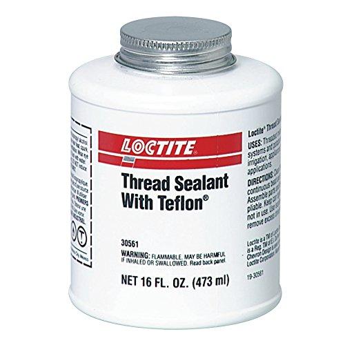 1527514 Loctite Thread Sealant, 1 pt, Brush Can, White, 16 oz.