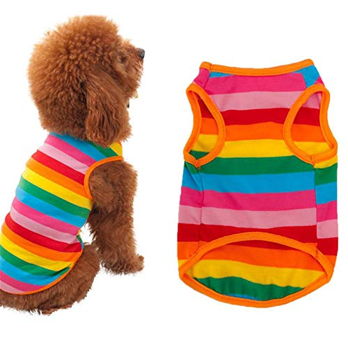 BOENTA Hunde Mantel Sommer hundekleidung Sommer Kätzchen Kleidung Katze Kleidung Haustiere Hundebekleidung Niedliche Kleidung für den Sommer Hundemäntel 2,L