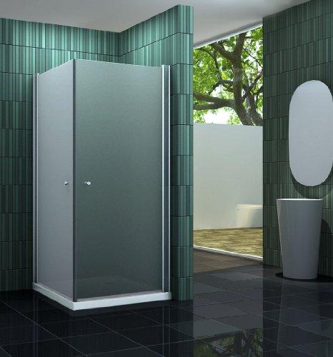 Duschkabine BANHO-F 90 x 90 x 190 cm ohne Duschtasse