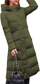 Women's Winter Hooded Quilted Outwear Long Packable Down Coat Jacket