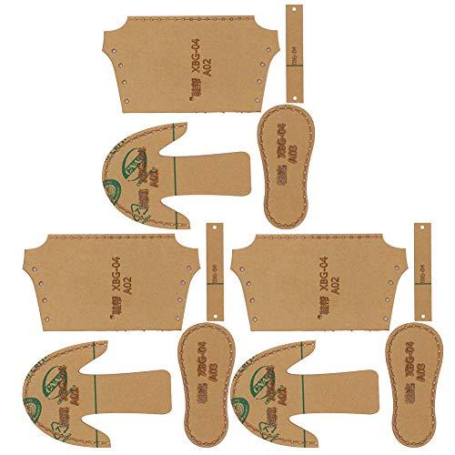Ledermuster Acryl Vorlage, transparente Mini Schuhe Stiefel Vorlage für DIY Leder Schuh Schablone