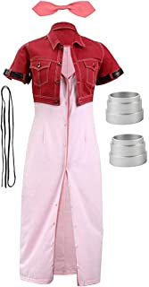 CosplayLife Final Fantasy VII Advent Children Aerith Gainsborough Cosplay Costume for Women | Full Set