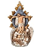 Joseph's Studio by Roman - Angels with Crist Statue, Renaissance Collection, 13.25' H, Resin and Stone, Religious Gift, Decoration, Collection, Durable, Long Lasting