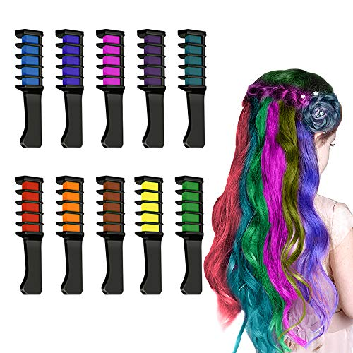 Hair Chalk for Girls Kids, superwinky 10 Colors Temporary Hair Dye for Kids Girls Christmas Gifts Age 3-12 Colorful Hair Chalk Toys for 3-12 Year Old Girls Kids Birthday Present for Girls Stocking Stuffer