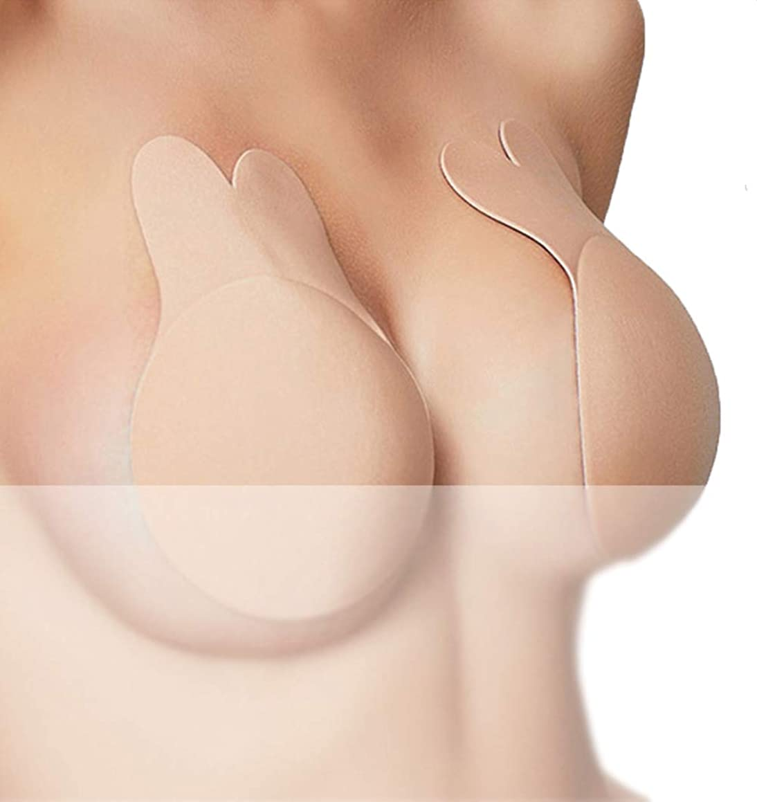 Nipplecovers Sticky Bra Adhesive Strapless Backless Bras Breast Lift Pasties(2019New Model))
