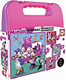 Educa- Minnie Ayudantes Felices Mickey and The Roadster Racers Maleta con Puzzles Progresivos, Multicolor (17638)