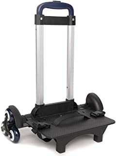 PROTAURI Foldable Trolley Cart for School Bags - Wheeled Hand Truck for Kids,Student's Luggage Travel Hand Cart with Buckl...