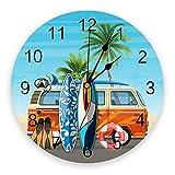 NIGU Reloj de baño Surf Buceo Beach Van Reloj de pared redondo...