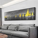 Abstrakte Landschaftsmalerei auf Leinwand gedruckt Sea