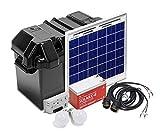 Xunzel solarlife10i a + +, Off de Grid Solar LED Iluminación y Generación de Energía Kit, aluminio, 10W, Negro, 29x 34x 42cm
