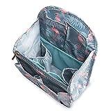 Yisigaインナーバッグ 軽量防水収納バッグ バッグインバッグ 収納力抜群 仕分け デイパック・ フラミンゴバックパックバッグbag in bag27cm×19.5cm×11cm (S, フラミンゴ)