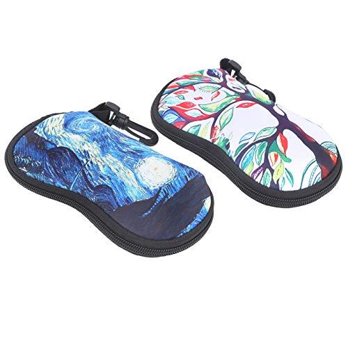 SALUTUYA Proteja Las Gafas con práctico Gancho de Hebilla Organizador de Gafas Bolsa de Almacenamiento para Gafas de Sol Material Suave y Liso, para Todo Tipo de Gafas