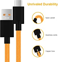 Mysail Warp Charge Type-C Cable 5V 6A Warp Charger Cable Nylon Braided USB C Dash Charging Cable Compatible with OnePlus 7 Pro/ 7, 6T/ 6, 5T/ 5, 3T/ 3