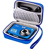 Carrying & Protective Case for Digital Camera, AbergBest 21 Mega Pixels 2.7' LCD Rechargeable HD/ Kodak Pixpro/ Canon PowerShot ELPH 180/190 / Sony DSCW800 / DSCW830 Cameras for Travel - Blue