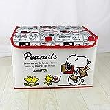 LBHHH Caja De Almacenamiento De Snoopy, Caja De Almacenamiento De Impresión De Bordado De Dibujos Animados De Tela Oxford, Caja De Almacenamiento Portátil Plegable 40 * 25 * 25CM Rojo