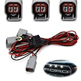 iJDMTOY LED Front Grille Marker Lights Daylight DRL Enable Wiring Harness Compatible With 2010-2014 & 2017-up Ford Raptor (Convert LED Grill Lights Into Daytime Running Light)
