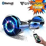 CITYSPORTS Overboard 6.5 Pulgadas Hover Board Bluetooth, Patinete Eléctrico Self-Balance Board 700W Motor con Ruedas de...