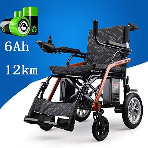 ZKORN Elektrorollstuhl, Leichter Rollstuhl Elektrorollstuhl offen schnell zusammenklappbar Elektrorollstühle Indoor Outdoor Lithiumbatteriesicher Einfach zu fahrende Rollstühle