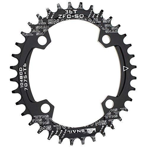 CYSKY 36T Oval Schmale Breite Kettenblatt 104BCD Bike Speed Kettenblatt für die meisten Fahrrad Rennrad Mountainbike BMX MTB (36T)