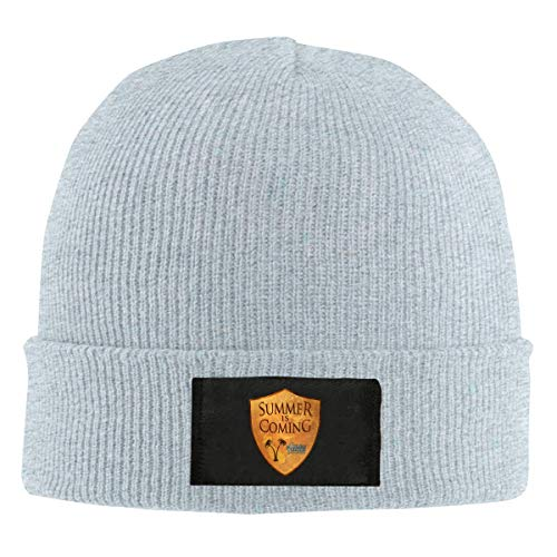 AUUDIMASA Summer is Coming Knitted Hat Winter Outdoor Hat Warm Beanie Caps for Men Women Black