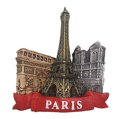 Eiffel Tower Louvre Museum Paris France Fridge Magnet 3D Resin Handmade Craft Tourist Travel City Souvenir Collection Letter Refrigerator Sticker
