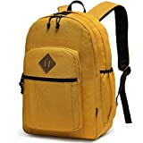 Backpack for Men Women,Chasechic Water Resistant Dual-compartments School Backpack 15-in Laptop Backpack,Yellow