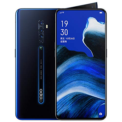 Original Oppo Reno 2 8GB+128GB Mobile Phone Snapdragon 730G Octa Core NFC 48MP Camera VOOC 3.0 AMOLED Screen Fingerprint 5X Zoom OIS Support Google by-(Real Star Technology) (Navy Blue)