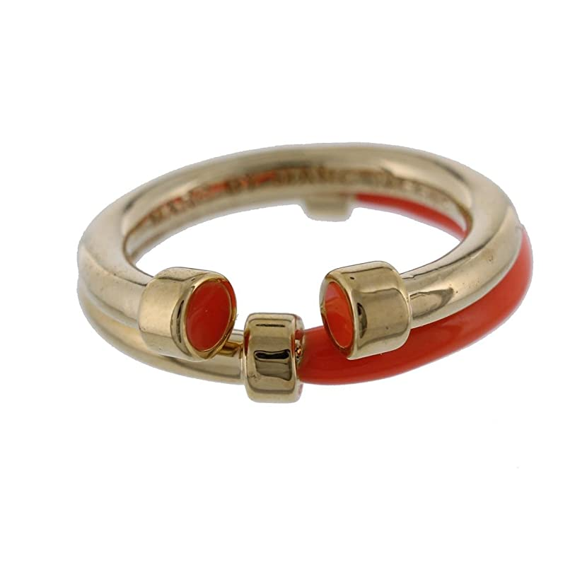 Marc by Marc Jacobs Womens Hula Hoop 2PC Stackable Right-Hand Ring Orange 7